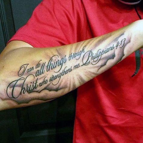 40 Philippians 4 13 Tattoo Designs For Men Bible Verse Ideas