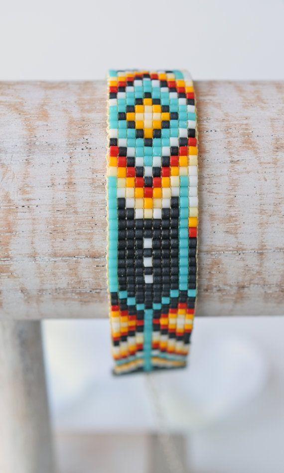 Gewebtes Perlen Armband W012 von FreubelleBijoux auf Etsy   Schmuck ...