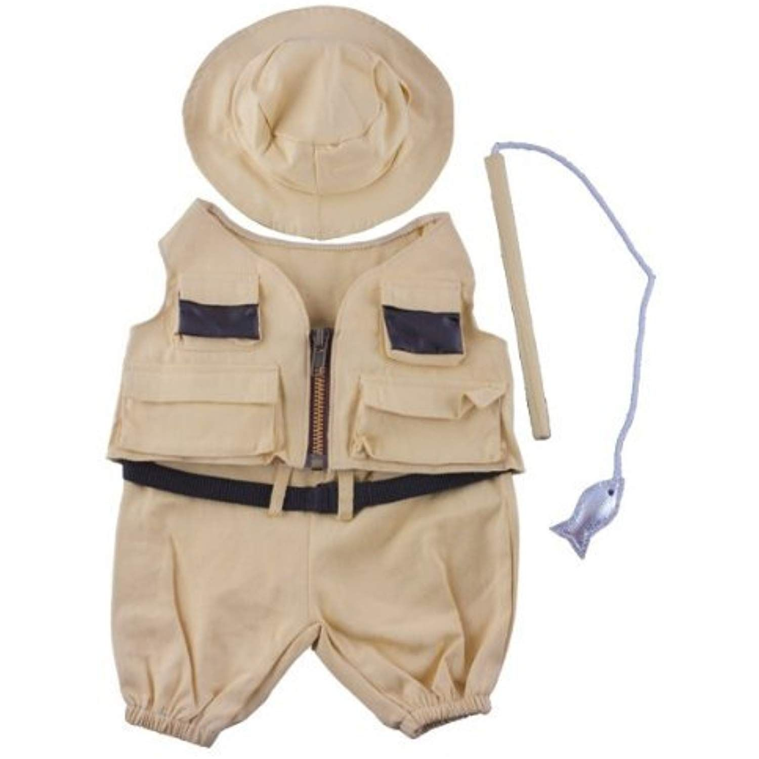 28c367baff6 Fisherman w Hat and Pole Outfit Teddy Bear Clothes Fit 14