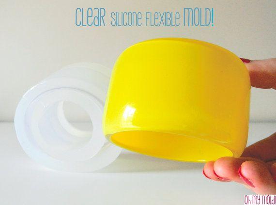 Chunky Tall  Bangle Clear Mold resin bangle mold. by OHMYMOLD, €48.56 68.00-eek