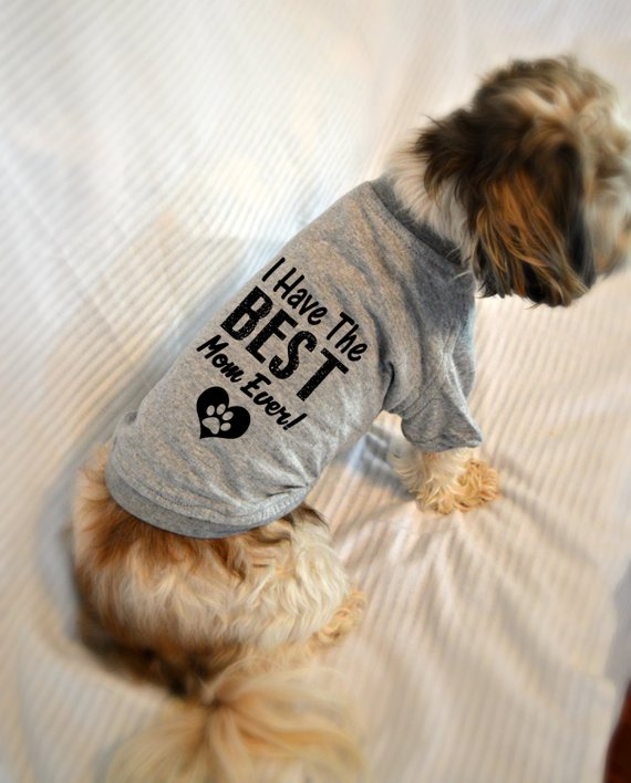 Mother S Day Gift Dog T Shirts I Have The Best Mom Ever Pet