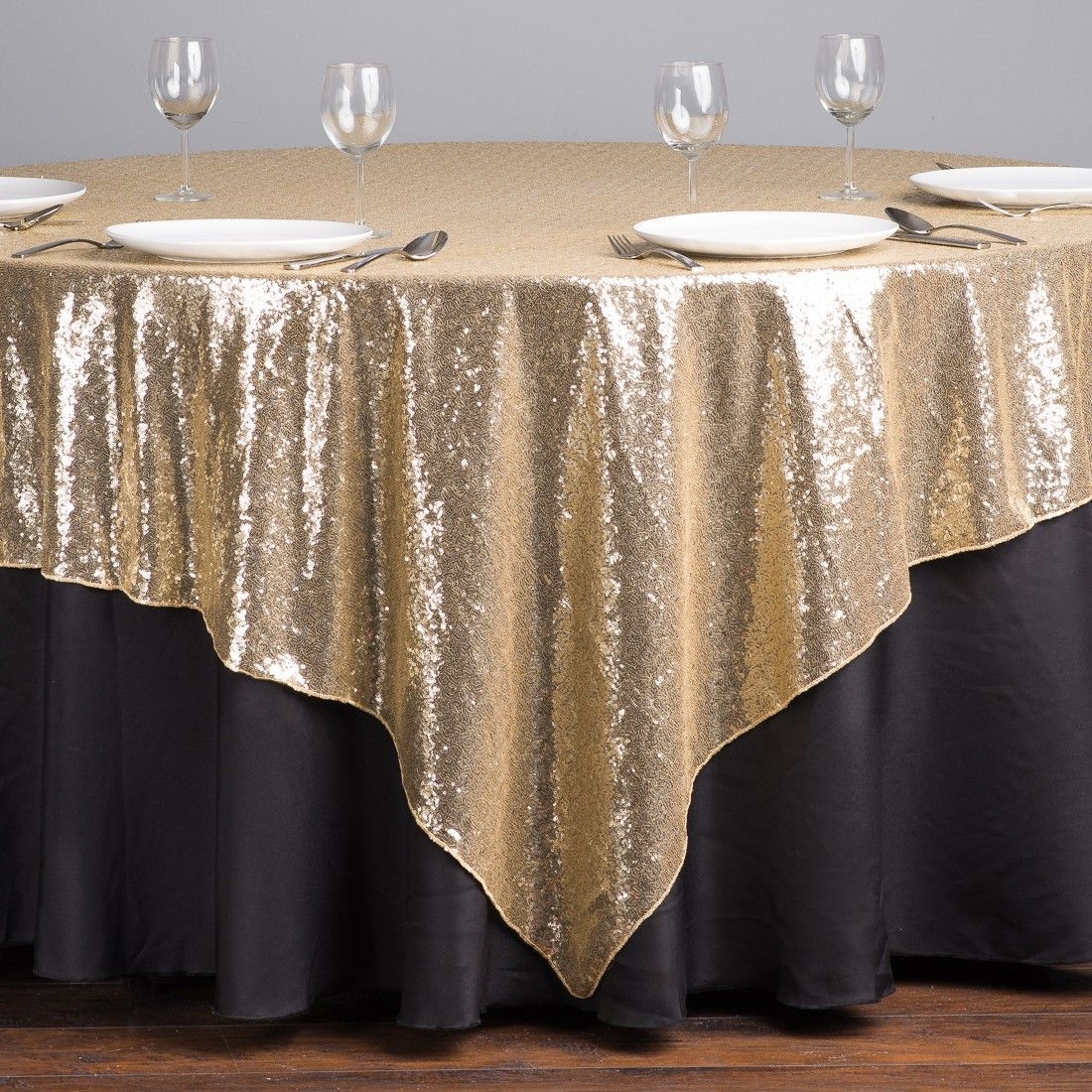 85 In Square Sequin Overlay Gold Sequin Overlay Sequin Tablecloth Table Cloth