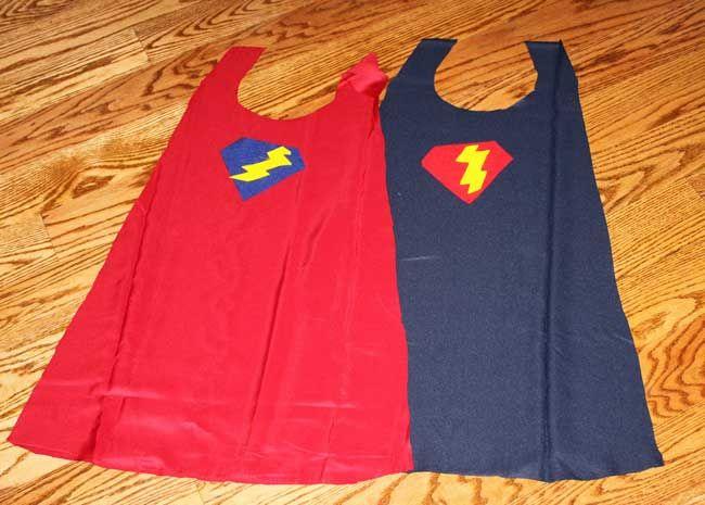 super hero cape -cutout fabric