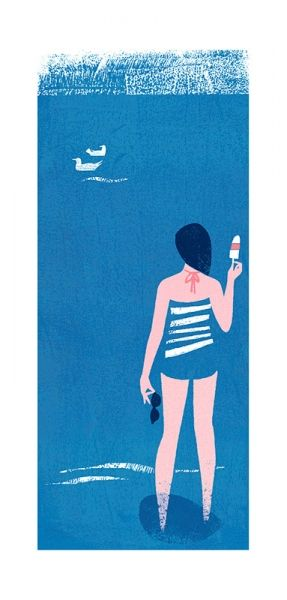lolly lady illustration by lucy davey - brilliant use of shape & color
