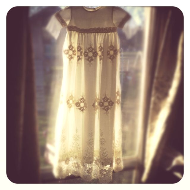 """Blessing / christening gown I designed. The """"Kaylee"""" so sweet! Modern and traditional at the same time."""