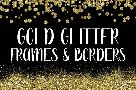 Gold Glitter Frames And Borders Png Overlay Clipart Bundle Etsy Glitter Frame Gold Glitter Clip Art