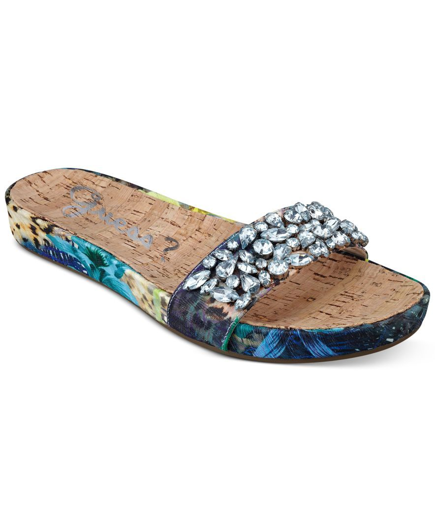 Guess Women's Padalis2 Embellished Slide Sandals