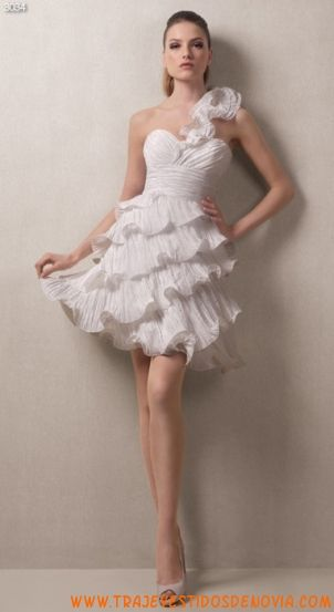 3034  Vestido de Novia de Tafetan White One cortos