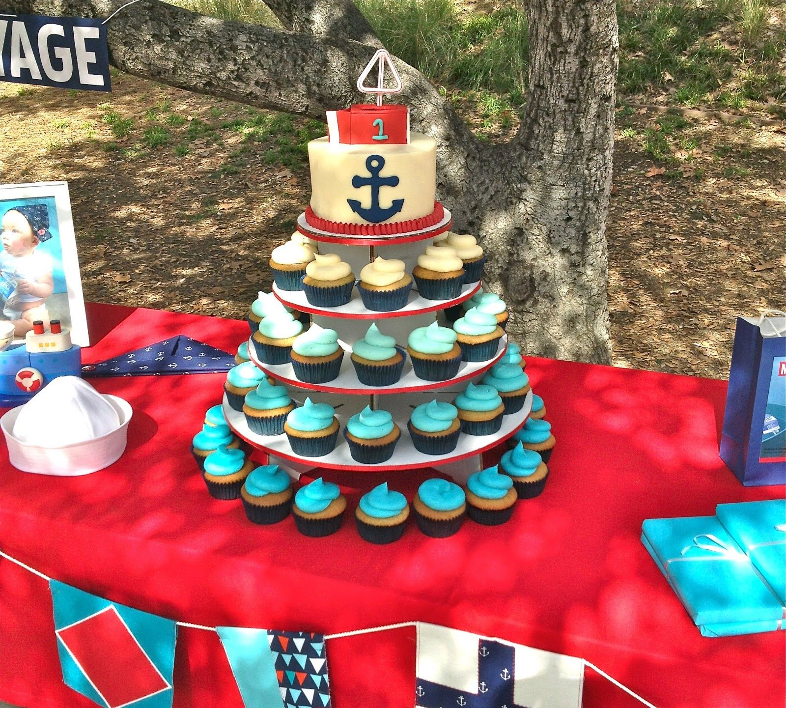 Nautical Themed Cupcakes NAUTICAL THEMED CUPCAKE TOWER Baby