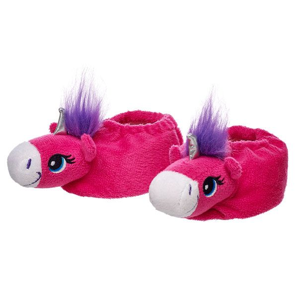 Build A Bear Unicorn Slippers