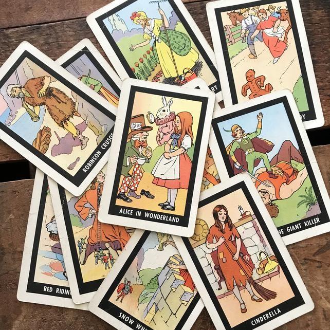 Vintage Old Maid Nursery Rhyme Cards Kids cards, Journal