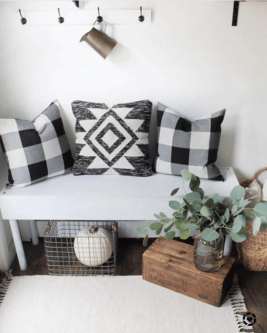 astounding black white christmas living room | Buffalo Check Decor Ideas for Christmas, fall and year ...