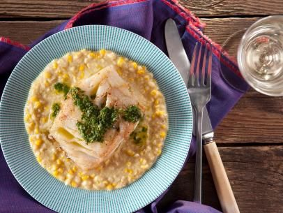 Pan seared pacific cod with cilantro vinaigrette and creamed corn pan seared pacific cod with cilantro vinaigrette and creamed corn recipe creamed corn creamed corn recipes and corn recipe forumfinder Image collections