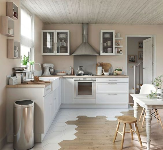 Pingl par monica casillas sur new orleans project carrelage cuisine parquet cuisine et - Parquet cuisine ouverte ...