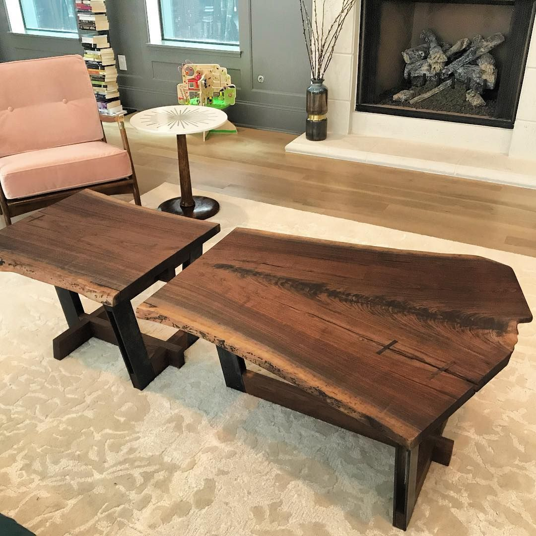 Split Coffee Table By Michael Leanes Design At Private Residence Houston Tx Solid Wood