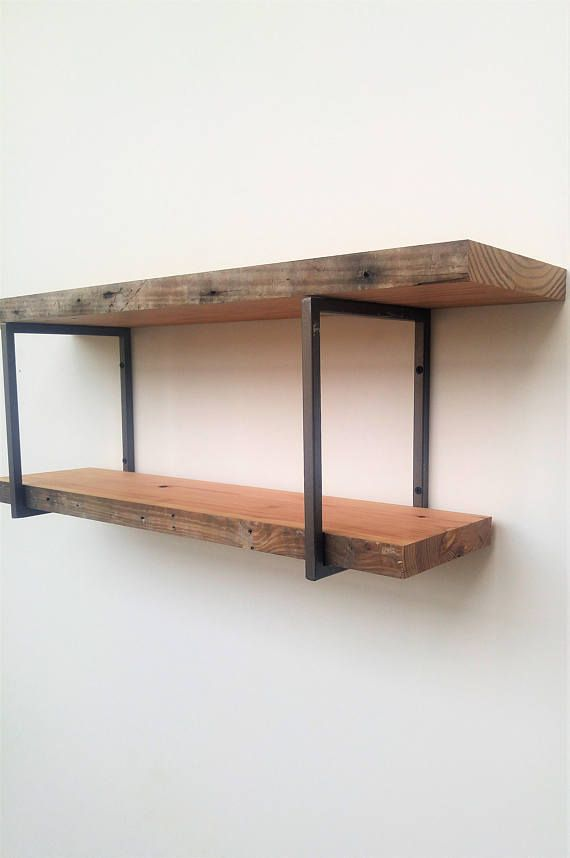 Square Shelf Bracket Set Two 2 Handmade Steel Brackets Hardware And Instructions Included
