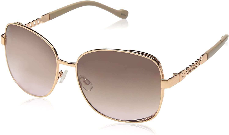 Jessica Simpson Nude And Rose Goldtone Cat Eye Sunglasses