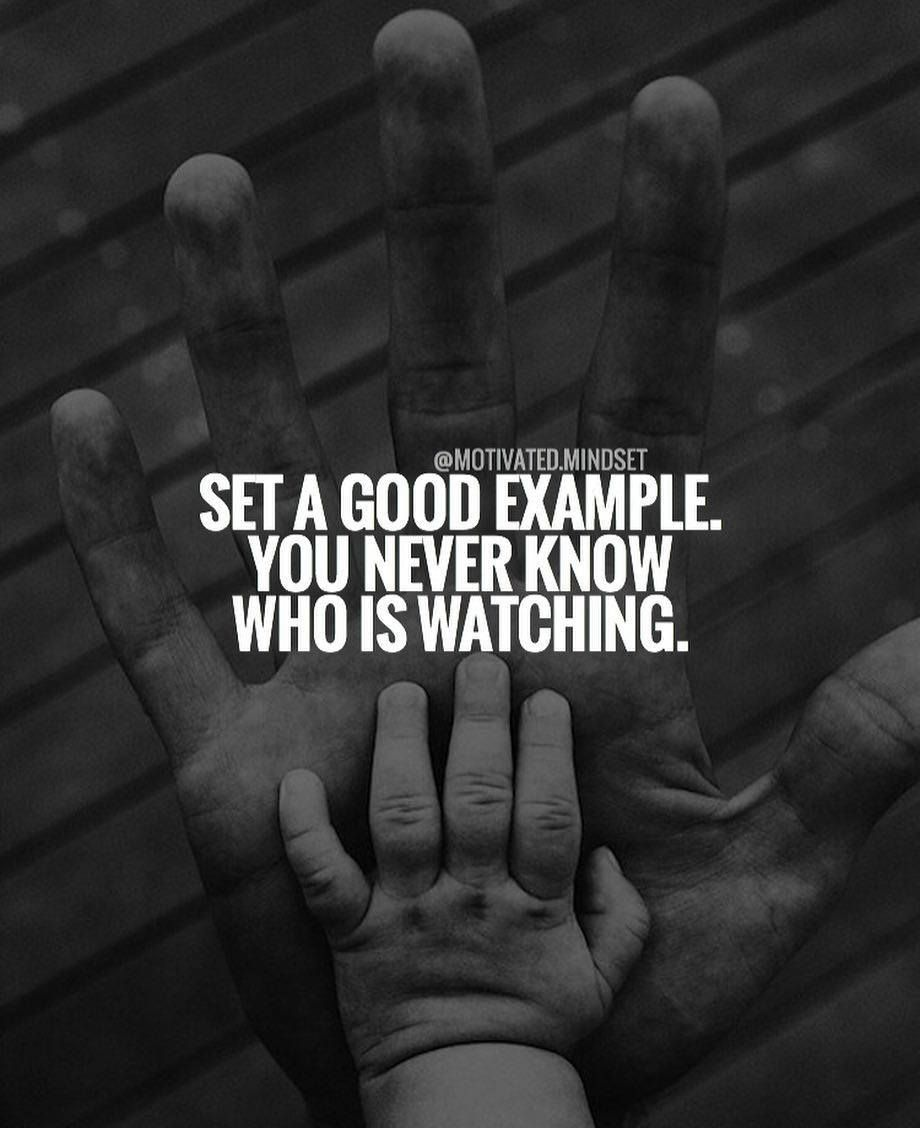 """""""Set a Good Example - You Never Know Who Is Watching .. """"   This is another true statement, and so many people simply do not realize just how many people ARE in fact seeing their content and watching their progress on a Daily Basis ..   People will often follow you for days, weeks, months or longer, and then one day decide to join you in something.   So always be sure to be YOU - Tell your Story - Share Value - So that those that are watching will grow to Know, Like and Trust you.."""