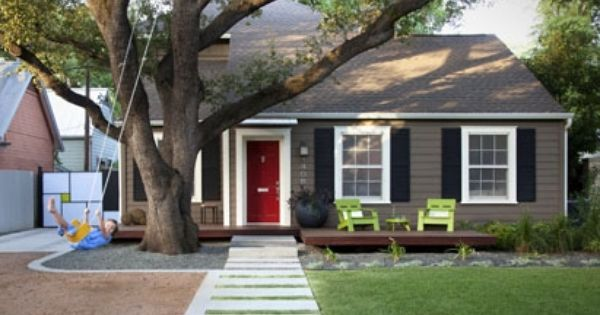 Grey Houses With Red Doors Cottage Exterior Colors Paint 2017