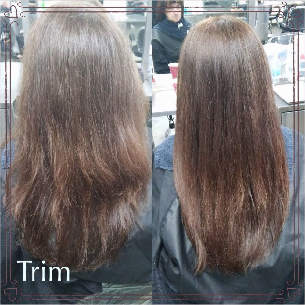 Trimmed Off Split Ends 1 2 Inch Off Long Hair Styles Split Ends Beauty