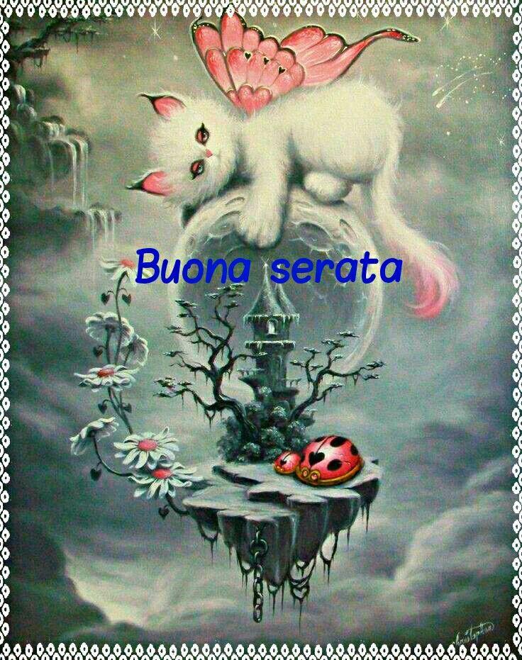 Buona Serata Buona Serata Art Fairy Art E Cat Art