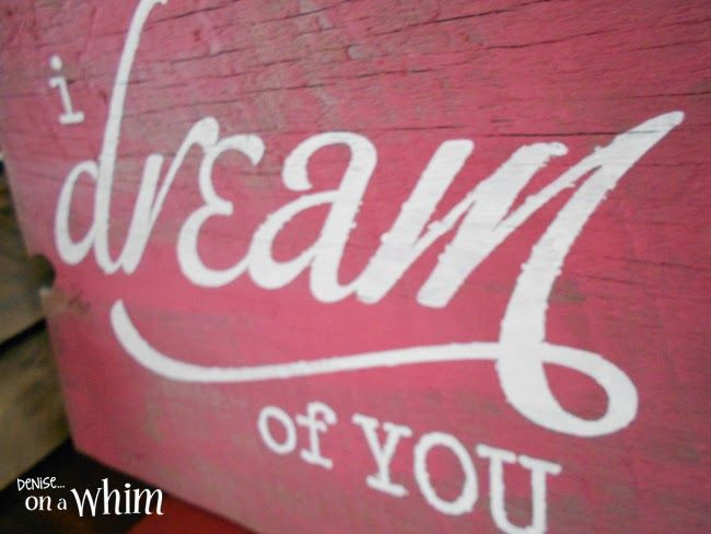 love is in the air valentine signs i dream of you reclaimed wood sign - Valentine Signs