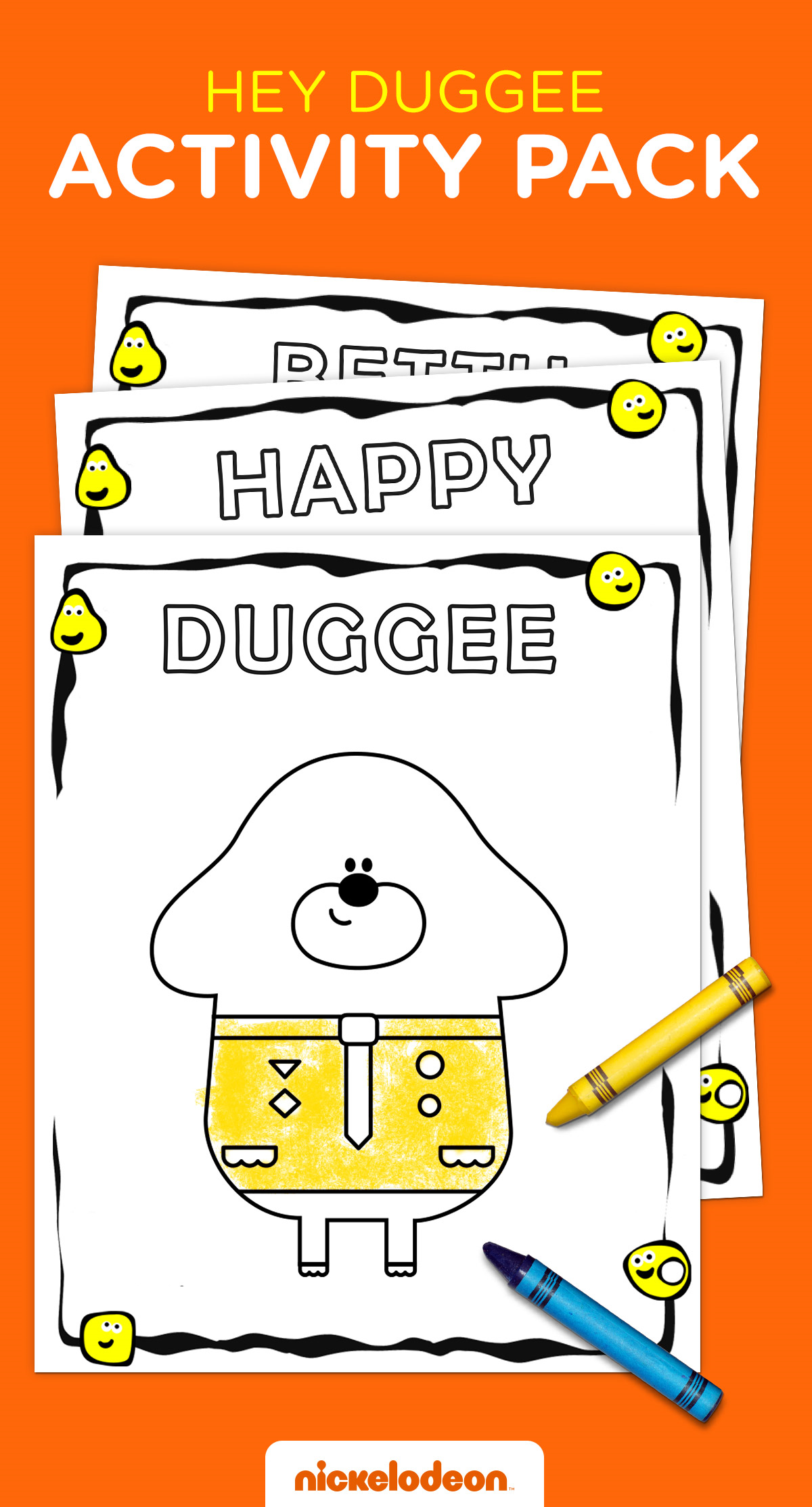 Hey Duggee Activity Pack Birthday Party Planner