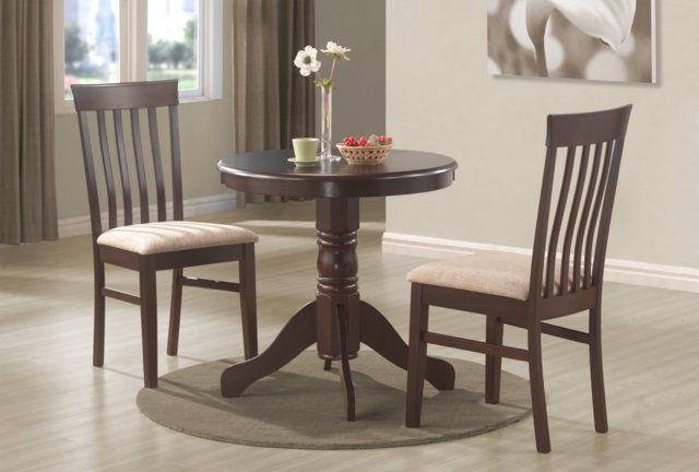 """wood bistro kitchen dining table 30"""" round pedestal"""