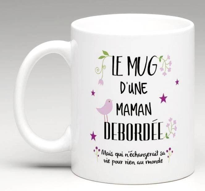 mug maman d bord e tasse blanche et noire vaisselle verres par chez v renise f te des m res. Black Bedroom Furniture Sets. Home Design Ideas