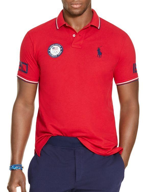 013f2f9e1f8b6 Polo Ralph Lauren Team Usa Mesh Slim Fit Polo Shirt
