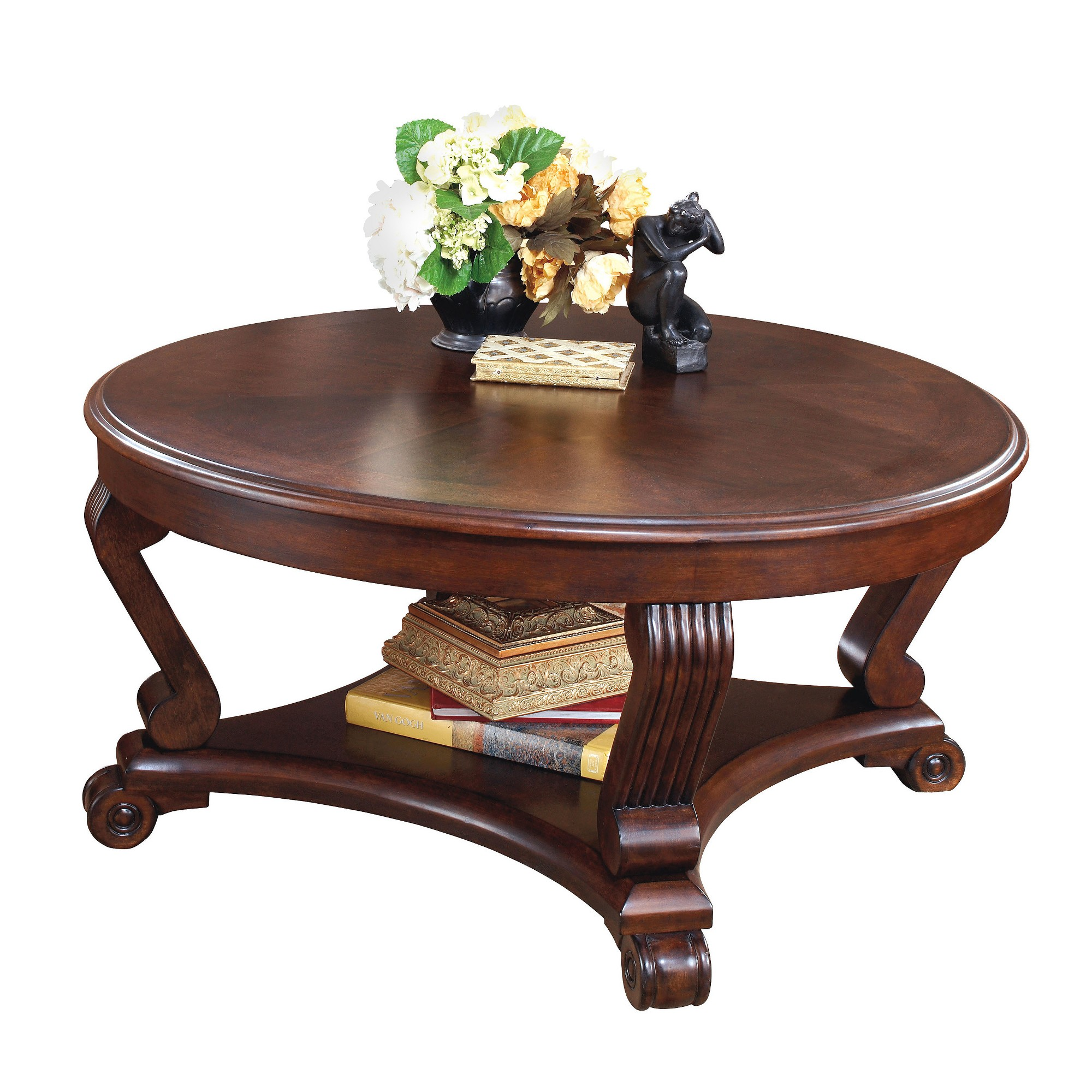Brookfield Coffee Table Dark Brown Signature Design By Ashley