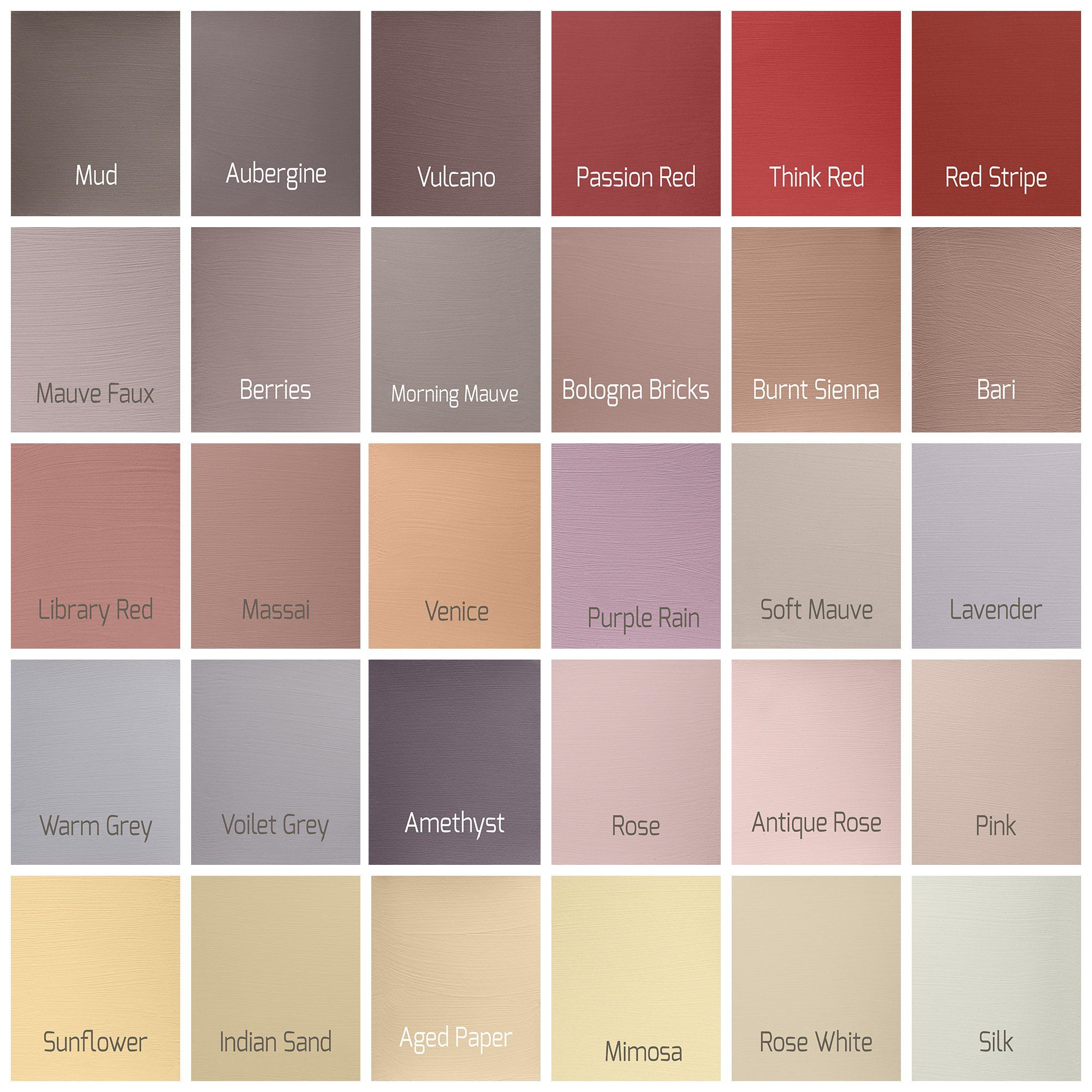 Autentcio Versante Matt Washable Paint For Furniture And Walls Reds Yellows Chalk Paint Furniture Painted