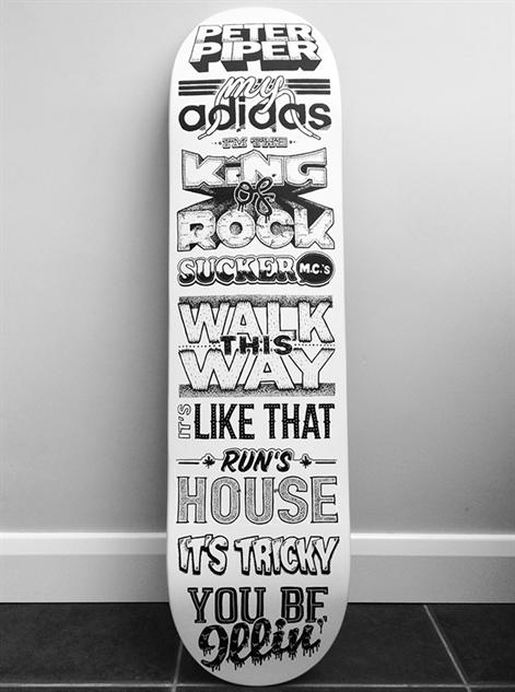 skateboard deck design by rigour studio