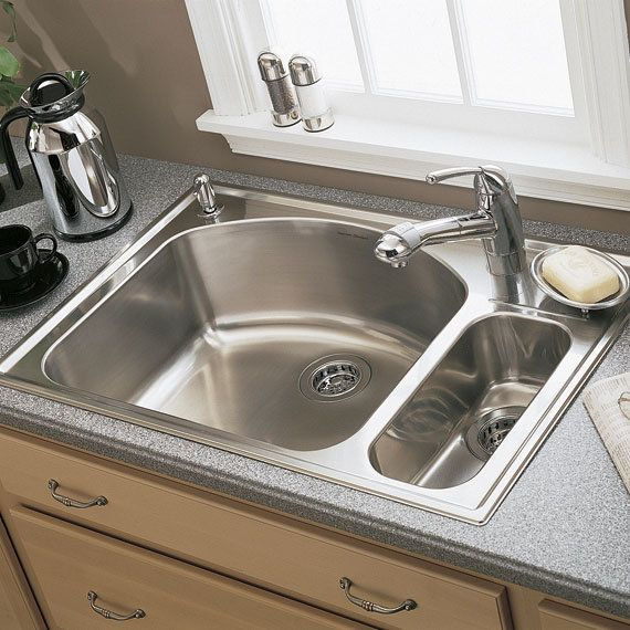 17 Best Images About Kitchen Sink On Pinterest: American Standard 7504.103 Culinaire Drop In 80/20