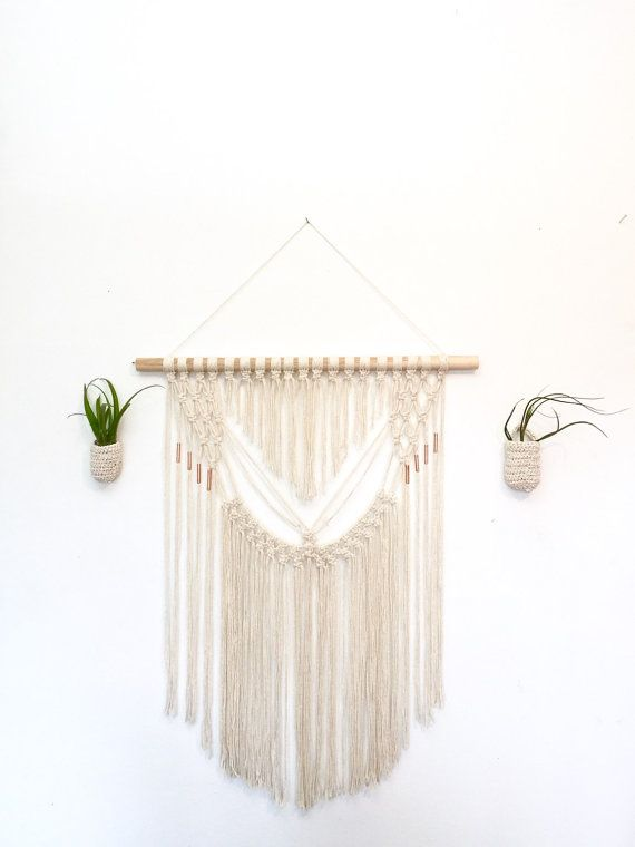 Large Macrame Wall Hanging Macrame Wall Hanging Copper Beads Large Tapestry Wall Art Wall Decor Large Macrame Wall Hanging Large Tapestries Wall Hanging