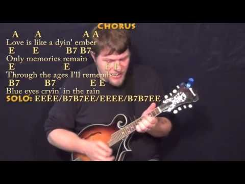 Blue Eyes Crying In The Rain Mandolin Cover Lesson With Chords