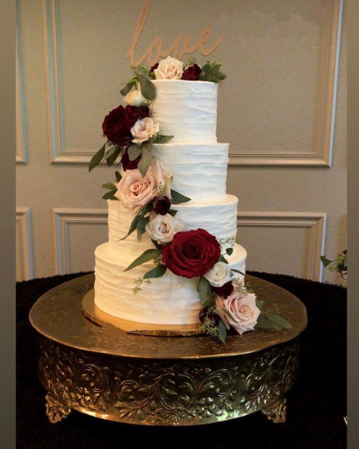 Pin by Lisa Griffin on Wedding Burgundy wedding cake