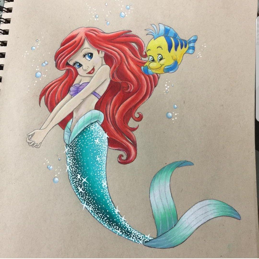 The Little Mermaid Little Mermaid Drawings Disney Art Drawings Little Mermaid Painting