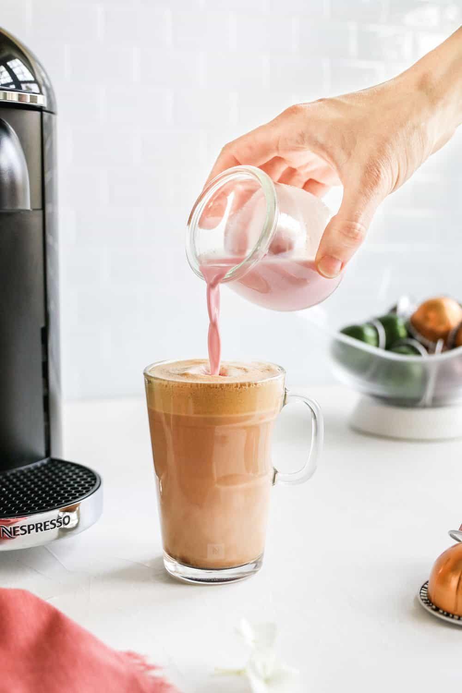 Pink Beauty Collagen Milk Creamer Recipe Collagen Coffee Coffee Fan Collagen