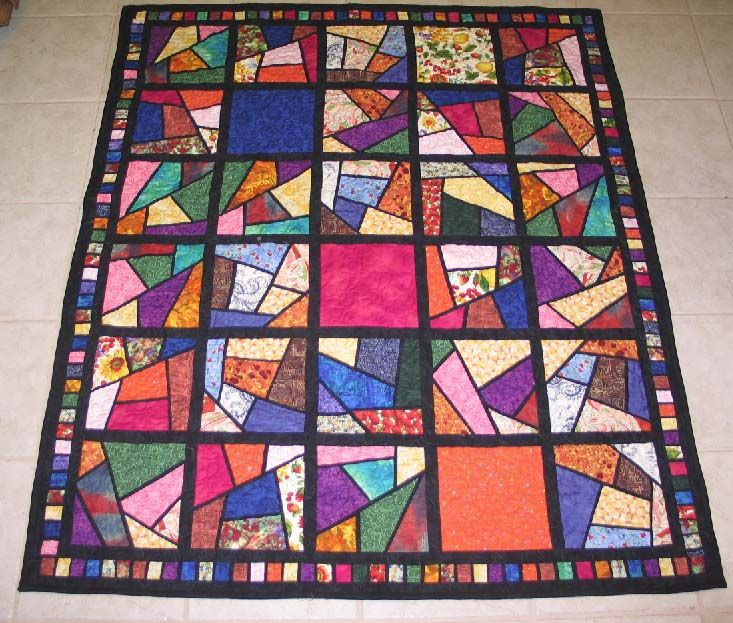 Stained Glass Stack And Whack Quilt Patterns Stained