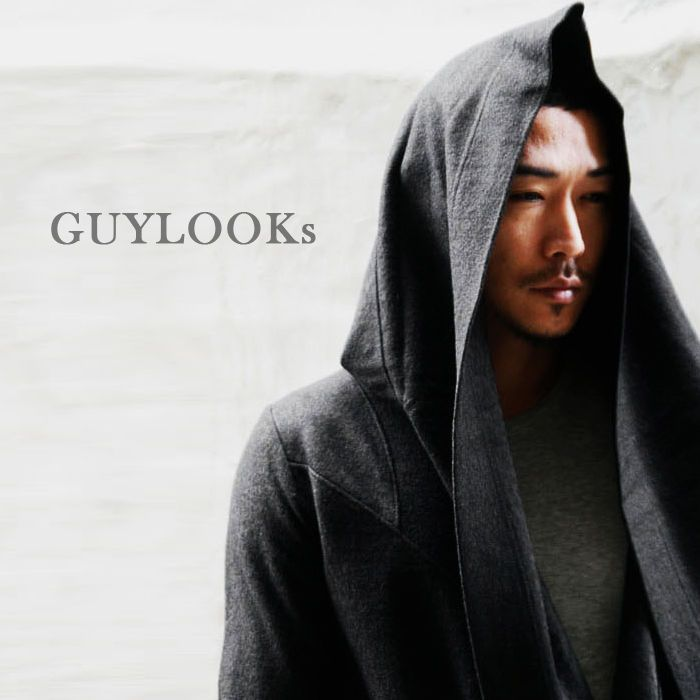 Avant-garde Mod Haute Couture Men's Diabolic Hooded Cape Coat S M By Guylook