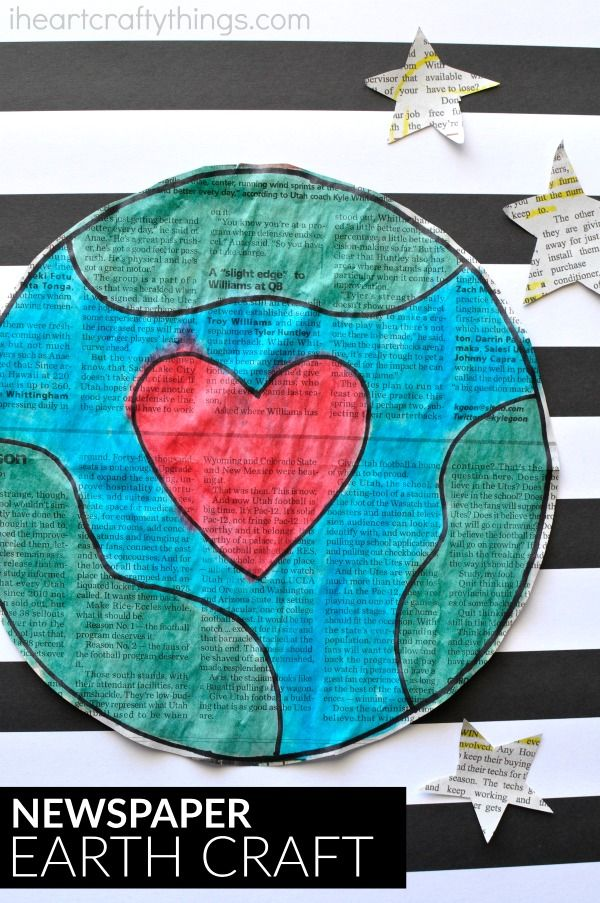 Gorgeous Newspaper Earth Day Craft I Heart Crafty Things