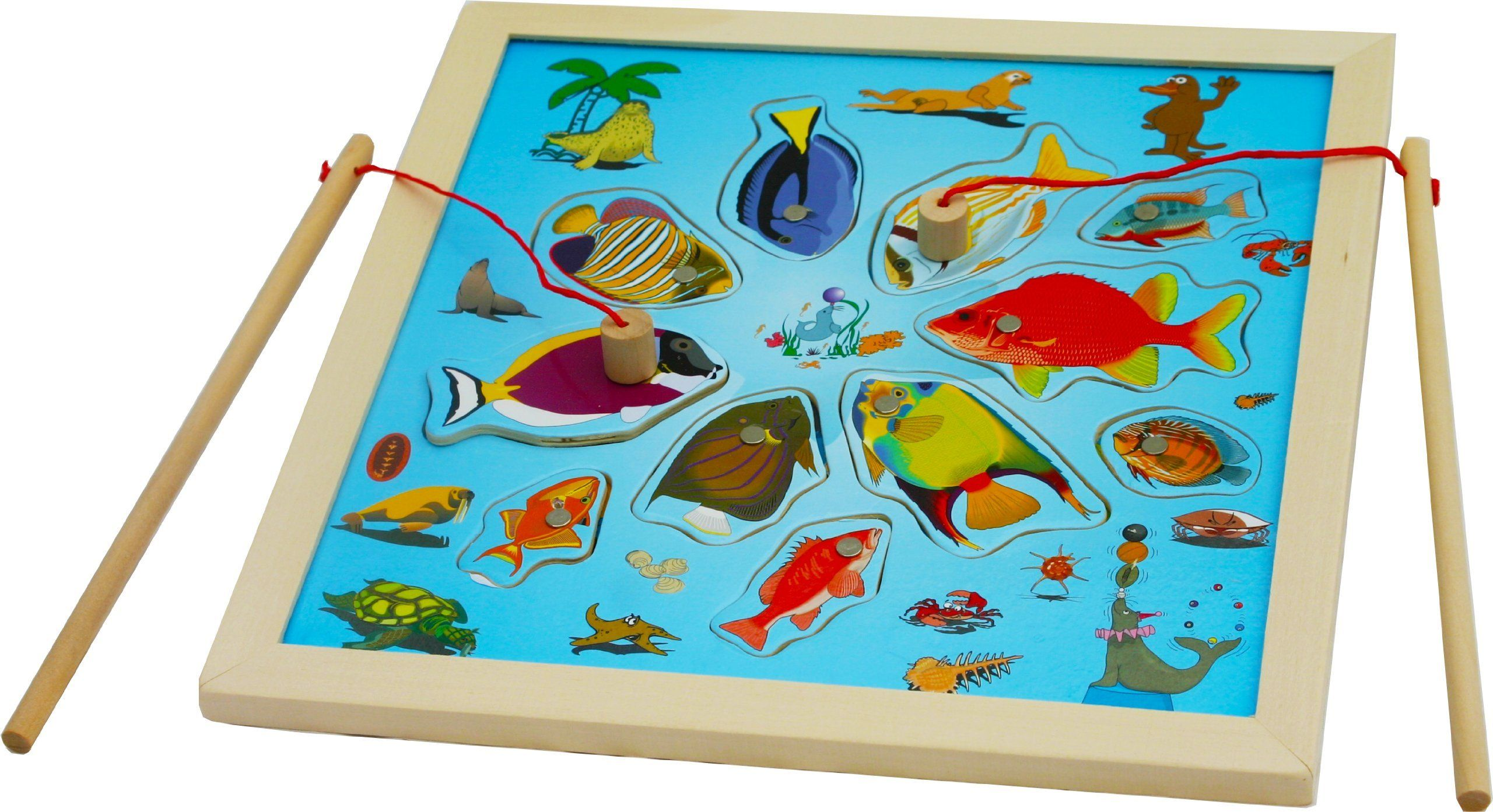 Toys of Wood Oxford Wooden Fishing Game Jigsaw