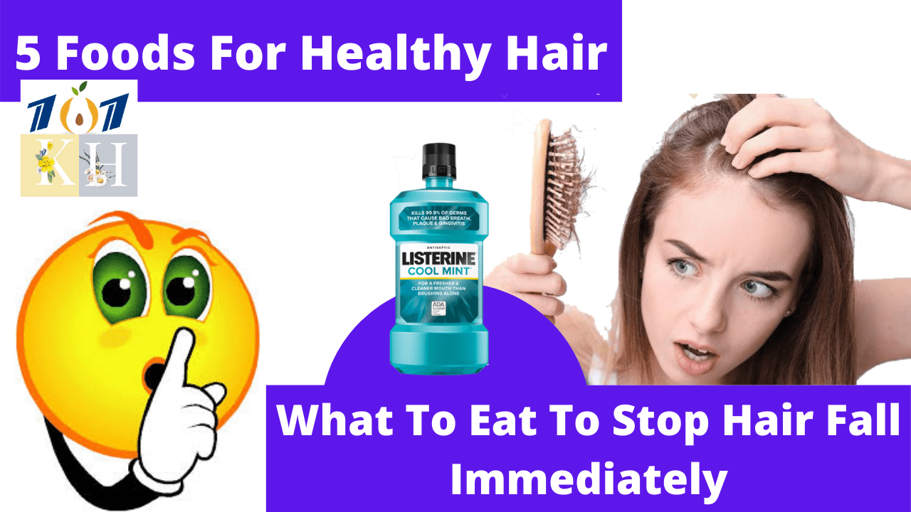 5 Foods For Healthy Hair | What To Eat To Stop Hair Fall Immediately