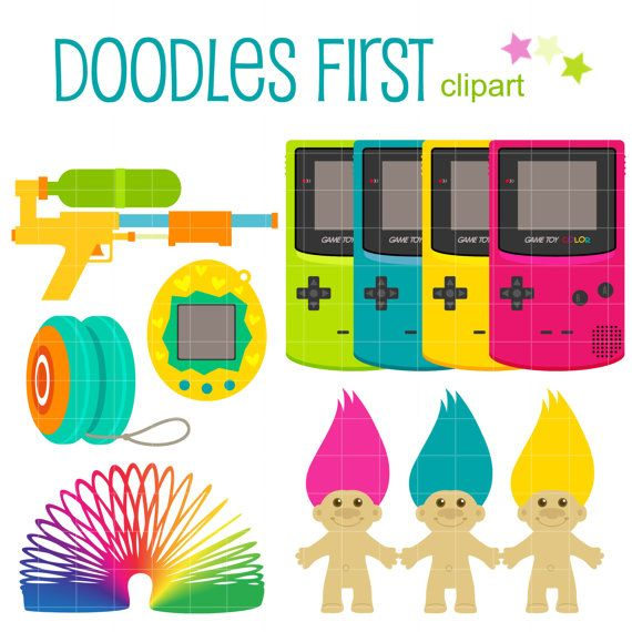 Toys And Games Clip Art : S kid toys digital clip art for scrapbooking card