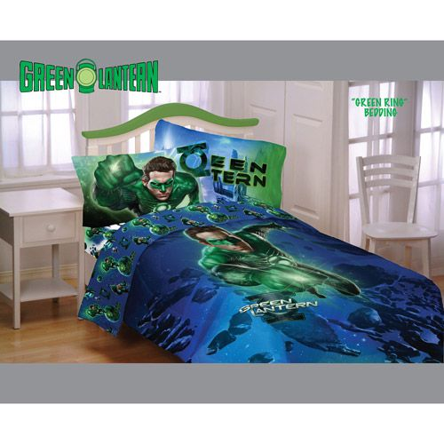 Green Lantern Bed Set... How To Make A Kid Feel Safe.