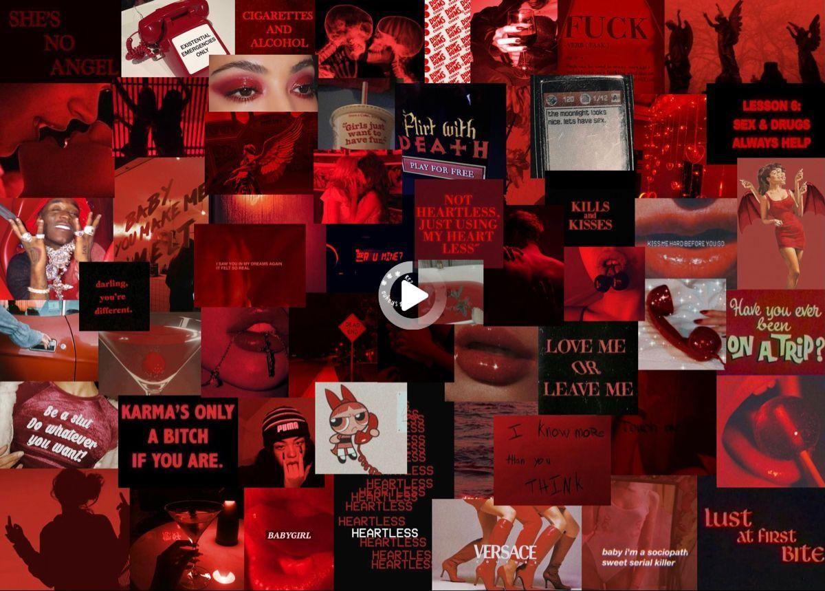 Victorian Iii In 2021 Dark Red Wallpaper Cute Desktop Wallpaper Pink Neon Wallpaper