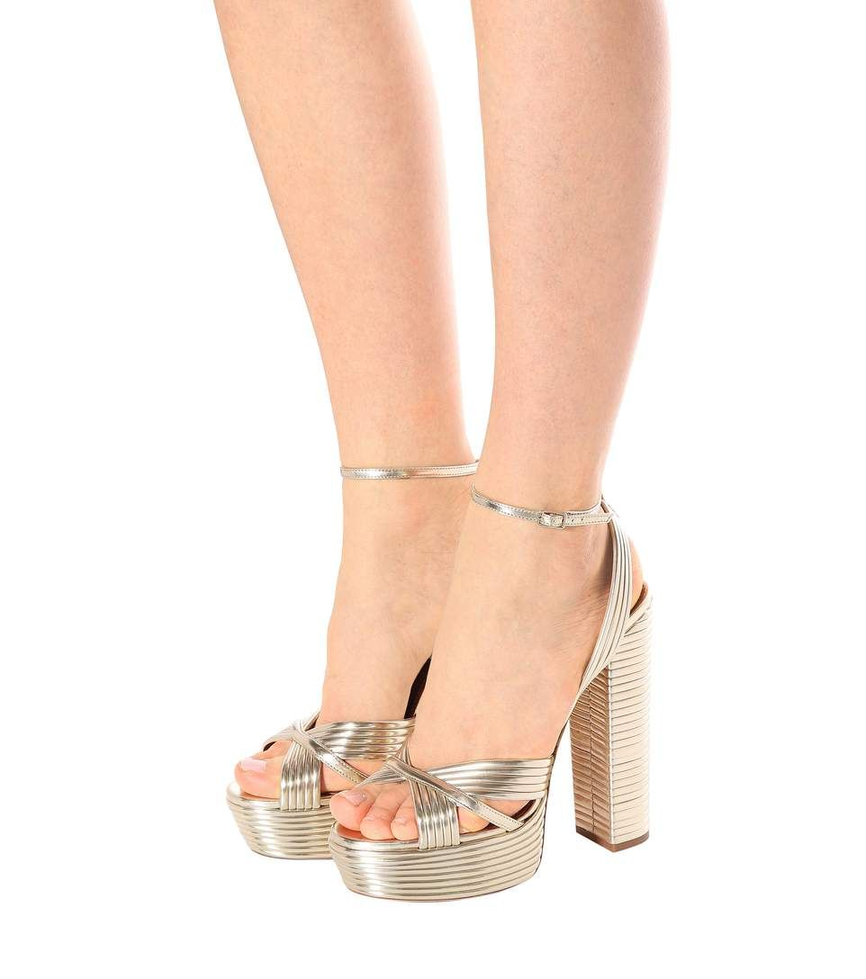 590649172a5 Aquazzura - Sundance Plateau 140 leather sandals