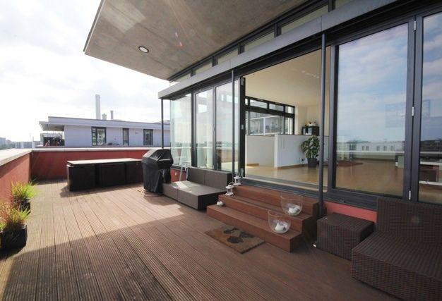 Westhafen Frankfurt Penthaus Penthouse Dachterrasse