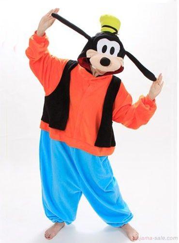 afae4f28de2f Adult Onesies Disney goofy Kigurumi Animal Onesies